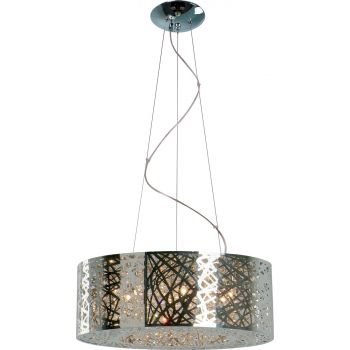 ET2 Inca 9-Light Drum Pendant, Polished Chrome