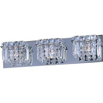 ET2 Bangle 3-Light Vanity Lights, Polished Chrome