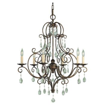 Feiss Chateau Collection 6-Light Chandelier in Bronze Finish