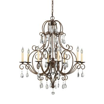 Feiss Chateau 8-Light Chandelier in Mocha Bronze