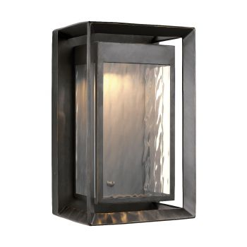 """Feiss Urbandale 16"""" 1-Light Outdoor LED Wall Lantern in Antique Bronze"""