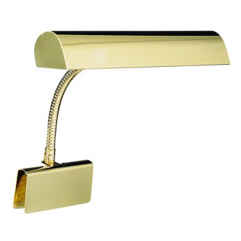 """House of Troy 14"""" Grand Piano Lamp in Polished Brass"""
