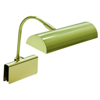 """House of Troy Grand Piano Halogen Lamp 10"""" Polished Brass"""