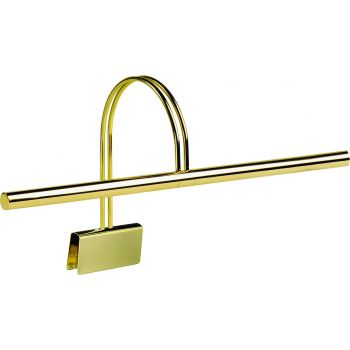 """House of Troy 22"""" Polished Brass Slimline Grand Piano Lamp"""