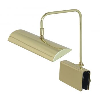 """House of Troy Zenith 12"""" LED Piano Lamp in Polished Brass"""