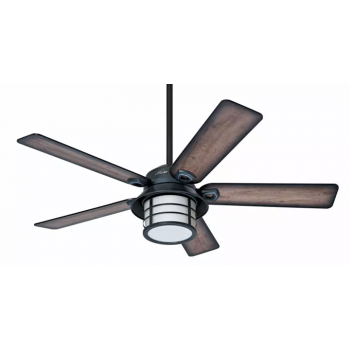 "Hunter Prestige Key Biscayne 54"" Outdoor Ceiling Fan in Zinc"