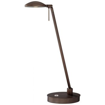 George Kovacs Reading Room LED Pharmacy Table Lamp in Bronze