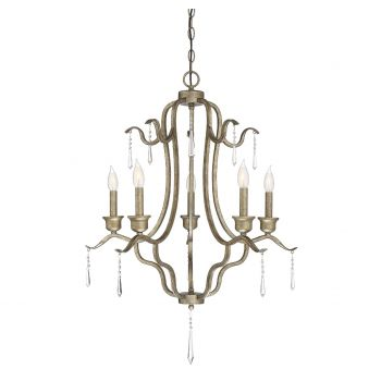 Trade Winds Lighting 5-Light Chandelier in Antique Gold