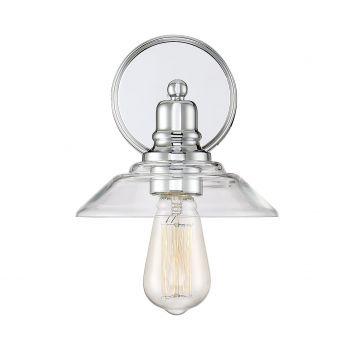 Trade Winds Lighting Loft 1-Light Sconce in Chrome
