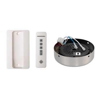 Monte Carlo NEO Wall Holster White Remote/Receiver Hub in Polished Nickel