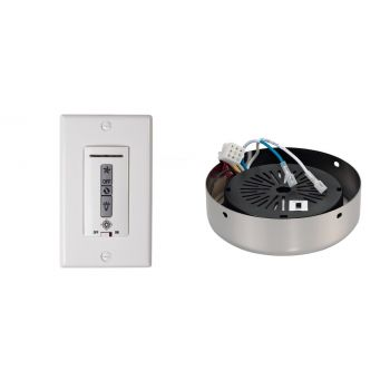 Monte Carlo Wired Wall Remote w/ White Switch Plate & Receiver Hub in Polished Nickel