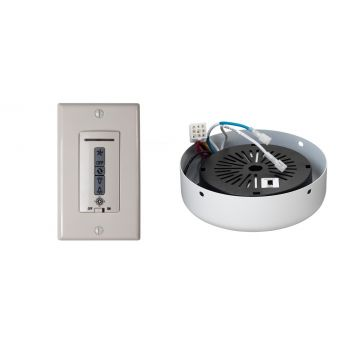 Monte Carlo Wired Wall Remote w/ Almond Switch Plate/Receiver Hub in Rubberized White