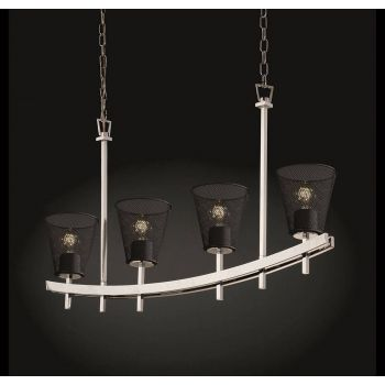 Justice Design Archway 4-Uplight Bar Chandelier in Chrome