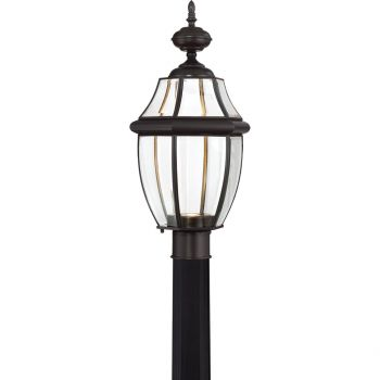 "Quoizel Newbury 21.5""  LED Outdoor Lantern Post in Medici Bronze"