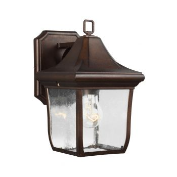 "Feiss Oakmont 10.75"" Outdoor Wall Lantern in Patina Bronze"