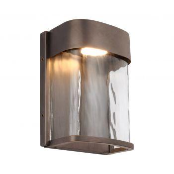 "Feiss Bennie 8"" LED Outdoor Wall Lantern in Antique Bronze"