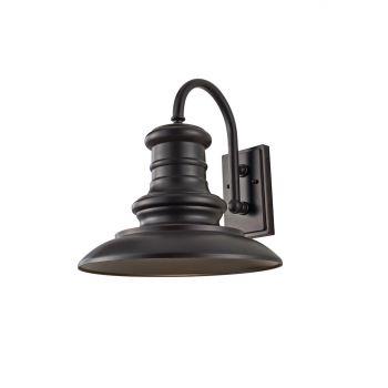 "Feiss Redding Station 15 5/8"" Outdoor Lantern in Restoration Bronze Finish"