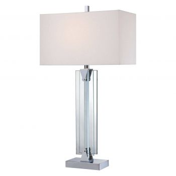 George Kovacs Portables 1-Light Table Lamp in Chrome