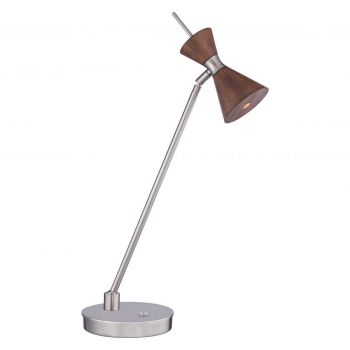 George Kovacs Conic 1-Light LED Table Lamp in Distressed Koa