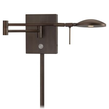 George Kovacs Reading Room LED Swing Arm Wall Lamp in Bronze