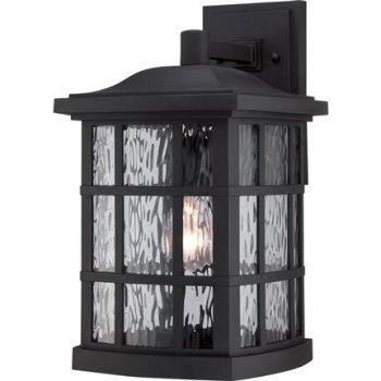 "Quoizel Stonington 15.5"" Outdoor Lantern in Mystic Black"