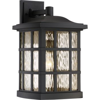 "Quoizel Stonington Mission 17"" Outdoor Wall Lantern in Matte Black"
