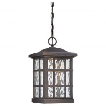 "Quoizel Stonington LED Mission 15"" Outdoor Hanging Lantern in Palladian Bronze"