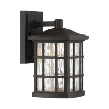 "Quoizel Stonington Mission LED 10.5"" Outdoor Wall Lantern in Mystic Black"