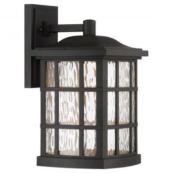 "Quoizel Stonington LED Mission 15.5"" Outdoor Wall Lantern in Mystic Black"