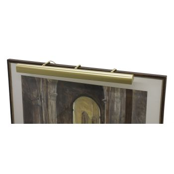 "House of Troy Traditional 36"" Satin Brass Picture Light"