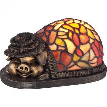Quoizel Ashley Harbor Tiffany Pig Accent Lamp