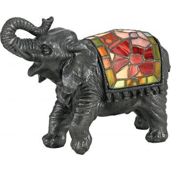 Quoizel Ashley Harbor Elephant Tiffany Accent Lamp