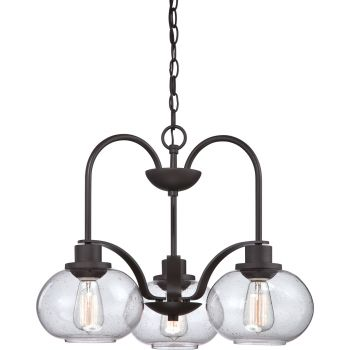 Quoizel Trilogy 3-Light Chandelier in Old Bronze