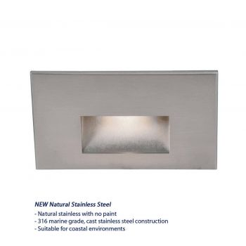 WAC Lighting 120V LEDme Horrizontal Indoor/Outdoor Step & Wall Light in Stainless Steel