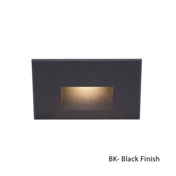 WAC Lighting 277V LEDme Horrizontal Indoor/Outdoor Step and Wall Light in Black