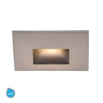 WAC Lighting 277V LEDme Horizontal Indoor/Outdoor Step & Wall Light in Brushed Nickel