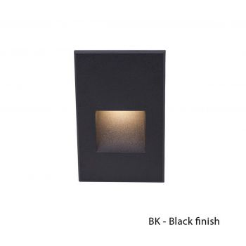 WAC Lighting 120V LEDme Vertical Indoor/Outdoor Step and Wall Light in Black