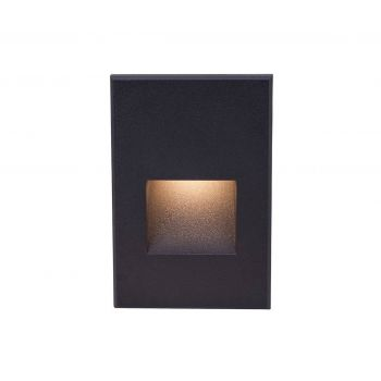 WAC Lighting 277V LEDme Vertical Indoor/Outdoor Step and Wall Light in Black