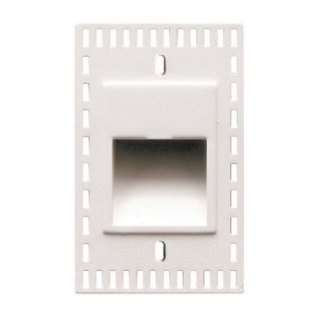 WAC Lighting 120V LEDme Vertical Trimless Step and Wall Light in White