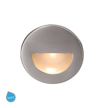 WAC Lighting 120V LEDme Round Indoor/Outdoor Step and Wall Light in Brushed Nickel