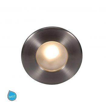 WAC Lighting 120V LEDme Full Round Indoor/Outdoor Step and Wall Light in Brushed Nickel