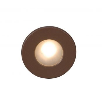 WAC Lighting 120V LEDme Full Round Indoor/Outdoor Step and Wall Light in Bronze
