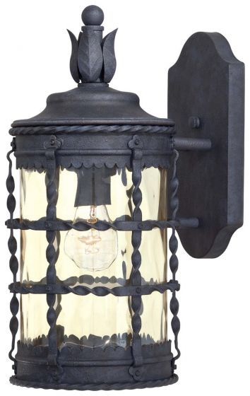"""The Great Outdoors Mallorca 16"""" Outdoor Wall Mount in Iron"""
