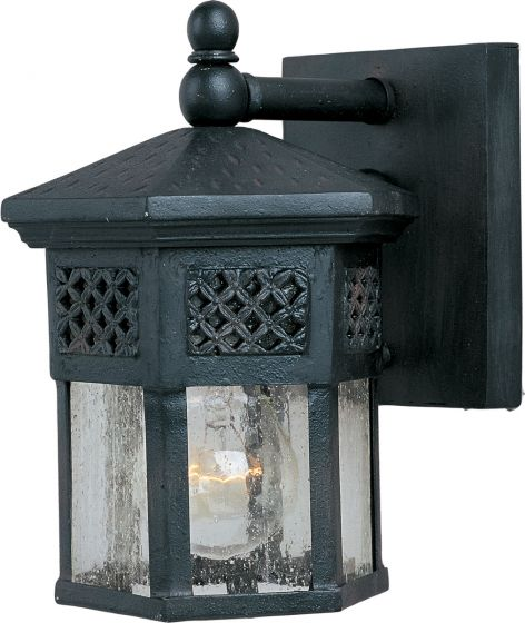 "Maxim Lighting Scottsdale 8.5"" Outdoor Wall Light in Black"