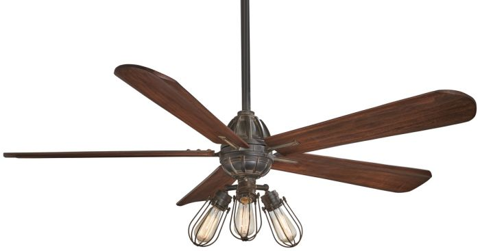 "Minka-Aire Alva 56"" LED Ceiling Fan in Tarnished Iron"
