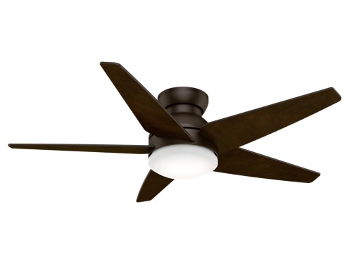 "Casablanca Isotope 52"" 2-Light LED Indoor Ceiling Fan in Bronze/Brown"