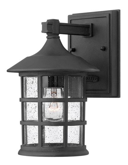 Hinkley Freeport 1-Light LED Outdoor Small Wall Mount in Black