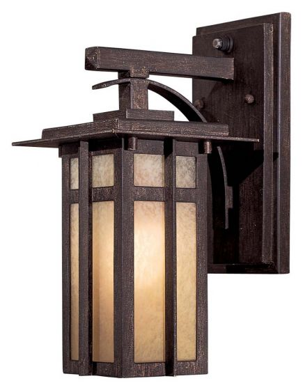 """The Great Outdoors Delancy 12"""" Outdoor Wall Light in Iron Oxide"""