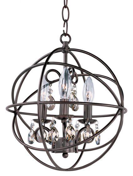 Maxim Lighting Orbit 3-Light Chandelier - Oil Rubbed Bronze