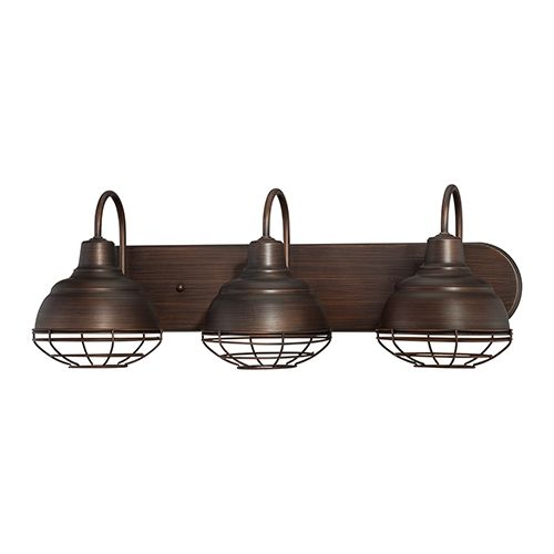 Millennium Lighting Neo-Industrial 3-Light Bath Vanity in Rubbed Bronze
